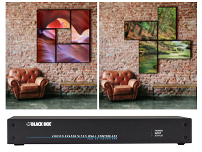 Individually Shaped Video Wall Designs: VideoPlex 4000